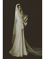 cheap -One-tier Cute / Sweet Wedding Veil Chapel Veils / Cathedral Veils with Appliques / Solid Tulle