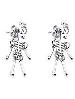 cheap -Men's Women's Stud Earrings Geometrical Skull Vintage Stainless Steel Earrings Jewelry Silver / Gold / Black For Street Daily Carnival Festival 1 Pair