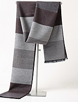 cheap -Men's Rectangle Scarf Casual Toast Scarf Striped