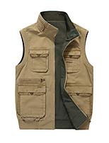 cheap -Men's Vest Gilet Street Sport Daily Fall Spring Short Coat Regular Fit Quick Dry Breathable Casual Sports Jacket Sleeveless Plain Full Zip Pocket Army Green Khaki