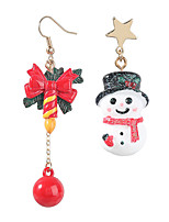 cheap -Women's Mismatch Earrings Mismatched Christmas Tree Stylish Imitation Diamond Earrings Jewelry Rainbow For Christmas Gift Festival 1 Pair