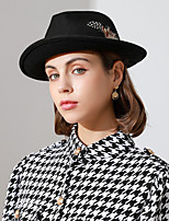 cheap -Fashion Classic Wool / Feathers Hats with Feather / Polka Dot / Metal 1pc Special Occasion / Casual Headpiece