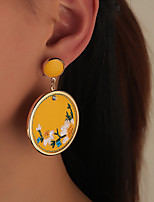 cheap -Women's Hoop Earrings Chandelier Petal Artistic Rustic Vintage Classic Modern Earrings Jewelry Yellow For Party Gift Daily Club Festival 1 Pair