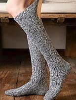 cheap -Fashion Comfort Women's Socks Solid Colored Stockings Socks Warm Christmas Blushing Pink 1 Pair / Casual Socks / Dress & Trouser Socks