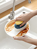 cheap -Kitchen Supplies Pot Brush Dishwashing Sponge Brush Degreasing To Stain Does Not Hurt The Hand Bowl Brush Cleaning Brush Stove Cleaning Household