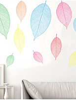 cheap -small fresh leaf creative wall stickers living room sofa room decoration bedside self-adhesive wall stickers