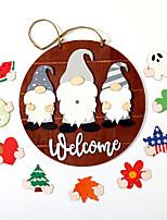 cheap -Halloween A Variety of Patterns Welcome Doorplate Wooden Christmas Halloween Decoration Door Hanging Plate
