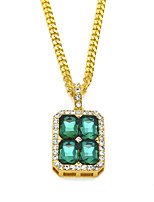 cheap -Long Necklace Women's Classic AAA Cubic Zirconia Fashion Classic Lovely Wedding Peacock Green Red Blue Black 51-80 cm Necklace Jewelry 1pc for Wedding Gift Daily