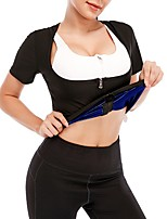 cheap -Sweat Shapewear Sports Yoga Fitness Gym Workout Zipper Stretchy Durable Hot Sweat Calories Burned For Women