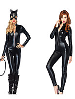 cheap -Cosplay Cosplay Costume Adults' Women's Halloween Halloween Halloween Festival / Holiday Polyster Black Women's Easy Carnival Costumes Solid Color