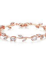 cheap -Women's Clear Cubic Zirconia Bracelet Geometrical Heart Stylish Simple Titanium Steel Bracelet Jewelry Rose Gold For Daily Promise