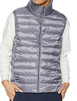 cheap -Men's Vest Daily Fall Winter Regular Coat Regular Fit Thermal Warm Sporty Jacket Sleeveless Solid Color Quilted Gray Green Black