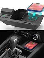cheap -Wireless Car Charger for Mazda CX5 CX-5 2017-2020 Center Console Accessories Wireless Phone Charging Pad for Mazda CX5 2017 2018 2019 2020  with USB Port