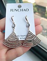 cheap -Women's Hoop Earrings Geometrical Princess Sweet Earrings Jewelry Gold For Wedding Street Gift Daily Festival 1 Pair