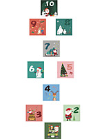 cheap -christmas hopscotch lattice box santa claus children bedroom floor decoration wall stickers