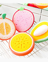 cheap -Kitchen Supplies Fruit Thickened Sponge Wipe Multifunctional Decontamination Cleaning Dishwashing Sponge