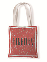 cheap -Fashionable Canvas Shoulder storage Bag Christmas gym reusable portable grocery shopping cloth book tote 33*37cm