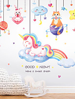 cheap -unicorn cloud star pendant bedroom entrance commercial wall landscaping decorative wall sticker