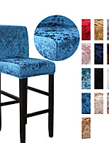 cheap -Velvet Bar Stool Covers Stretch, Soft Non Slip Height Stool Covers with Elastic Bottom Removable Washable High Seat Chair Protectors for Dining Room Kitchen Barstool