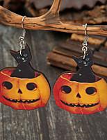 cheap -Women's Drop Earrings Earrings Classic Cat Pumpkin Cartoon European Earrings Jewelry Orange For Halloween 1 Pair