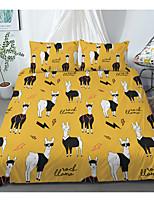 cheap -Print Home Bedding Duvet Cover Sets Soft Microfiber For Kids Teens Adults Bedroom Alpaca Animals Cartoon 1 Duvet Cover + 1/2 Pillowcase Shams