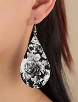 cheap -Women's Hoop Earrings Chandelier Petal Rustic Vintage Classic Modern Korean Earrings Jewelry Black For Party Gift Daily Club Festival 1 Pair