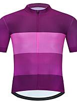 cheap -CAWANFLY Men's Short Sleeve Cycling Jersey Summer Fuchsia Bike Tee Tshirt Jersey Top Road Bike Cycling Quick Dry Sports Clothing Apparel / Micro-elastic