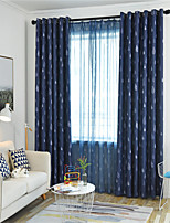 cheap -Window Curtain Window Treatments Blue Raindrops 1 Panel Room Darkening Grommet Rod Pocket Solid For Living Room Bed Room