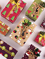 cheap -9pcs Christmas Wrapping Paper for a Valentine's Day gift box 50*70cm (each pattern 1pc)