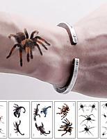 cheap -6 Pcs 3D Spider Tatoo Scorpion Temporary Tattoo Stickers For Halloween Fake Tattoo Body Art Tatuajes Joke Tatouage Temporaire
