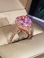 cheap -Women Ring AAA Cubic Zirconia Briolette Rose Gold Brass Blessed Elegant Fashion Korean 1pc / Women's
