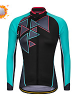 cheap -CAWANFLY Women's Cycling Jacket Winter Bike Tracksuit Winter Jacket Top Thermal Warm Fleece Lining Sports Green / Black Clothing Apparel Standard Fit Bike Wear / Long Sleeve / Micro-elastic