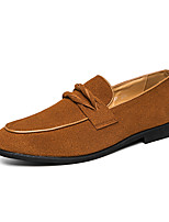 cheap -Men's Loafers & Slip-Ons Daily Suede Yellow Black Fall