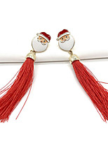 cheap -Women's Drop Earrings Classic Santa Suits Stylish Earrings Jewelry Dark Red For Christmas Festival 1 Pair