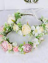 cheap -Wreath Wreath Simulation Flower Headdress Forest Fairy Girl Model Scenic Photo Head Flower