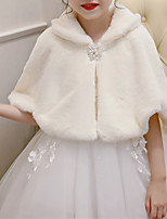 cheap -Half Sleeve Princess / Cute Rabbit Fur Engagement Party / Wedding Party Kids' Wraps With Bowknot / Imitation Pearl