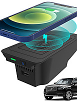 cheap -Car Qi Wireless  Charger for Volvo XC90 2015-2021 XC60 2018-2021 V60&S60 2019-2021 S90&V90 2017-2021 Wireless Phone Charging Pad for Volvo Accessories Left Rudder