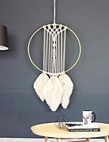 cheap -Boho Dream Catcher Handmade Gift Wall Hanging Decor Art Ornament Crafts Circle Feather For Kids Bedroom Wedding Festival 30*67cm