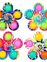cheap -Finger Toy Fidget Spinner Squeeze Toy / Sensory Toy Push Pop Bubble Stress Reliever 2/4 pcs Portable Gift Cute Stress and Anxiety Relief Durable For Kid's Adults' Boys and Girls Home Work