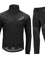 cheap -Men's Women's Long Sleeve Cycling Jersey with Tights Cycling Jacket with Pants Spandex Black / Red Black Bike Quick Dry Sports Graphic Mountain Bike MTB Road Bike Cycling Clothing Apparel / Stretchy