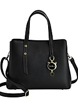 cheap -Women's Bags PU Leather Top Handle Bag Zipper Date Office & Career 2021 Black Red