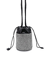 cheap -Women's Bags PU Leather Crossbody Bag Crystals Rhinestone Daily Office & Career Evening Bag Silver