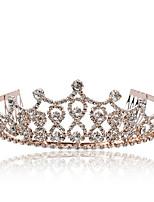 cheap -1 Piece Fashion Bridal Crown Headband Wedding Headwear Hair Accessories Headband Photo Studio Photo Shooting Props