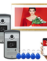 cheap -Wired/Wifi 10 inch Monitor Video doorbell Tuya Smart Intercom with 1080 Camera RFID unlock Motion Detecetor Video Record.