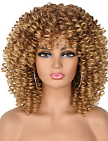 cheap -Synthetic Wig Afro Curly Asymmetrical Wig Short A1 A2 A3 A4 A5 Synthetic Hair Women's Cosplay Soft Party Black Brown