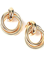 cheap -Women's Stud Earrings Geometrical Donuts Stylish Earrings Jewelry Gold For Gift Daily Work Festival 1 Pair