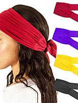 cheap -5 Pcs/set Women's Sports Yoga Hair Band Bandana Stretch Cotton All-match Knotted Headband Headwear