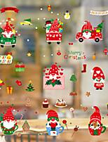 cheap -Christmas Snowflake Wall Stickers Decorative Wall Stickers PVC Home Decoration Wall Decal Wall Decoration Glass Window Decoration Removable 20*30cm*9