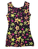 cheap -Gymnastics Leotards Girls' Kids Leotard Spandex Stretchy Handmade Sparkly Stars Sleeveless Training Performance Competition Ballet Dance Gymnastics Black