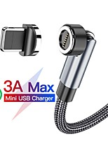 cheap -Micro USB Cable 3 In 1 Braided Quick Charge 3 A 2.0m(6.5Ft) 1.0m(3Ft) Zinc Alloy For Samsung Xiaomi Huawei Phone Accessory